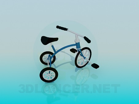 3d модель Трехколесный велосипед – превью