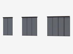 Interroom partition of A6 (dark brown dark silver)
