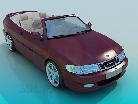 descarga gratuita de 3D modelado modelo SAAB Cabrio