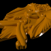 3d Barbel mask model buy - render