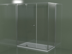 Frameless shower enclosure RM + RG with hinged door
