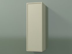 Wall cabinet with 1 door (8BUABCD01, 8BUABCS01, Bone C39, L 24, P 24, H 72 cm)