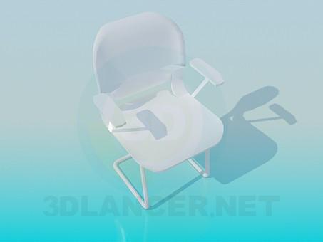 3d моделювання Стілець з підлокітниками модель завантажити безкоштовно