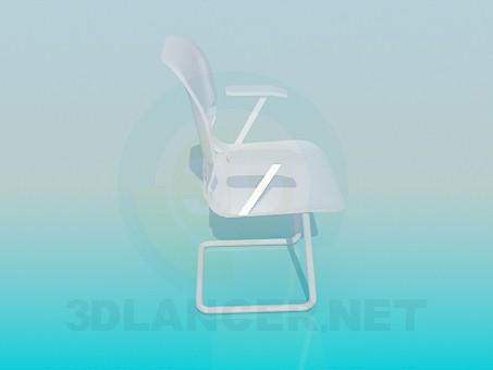 modelo 3D Silla con brazos - escuchar