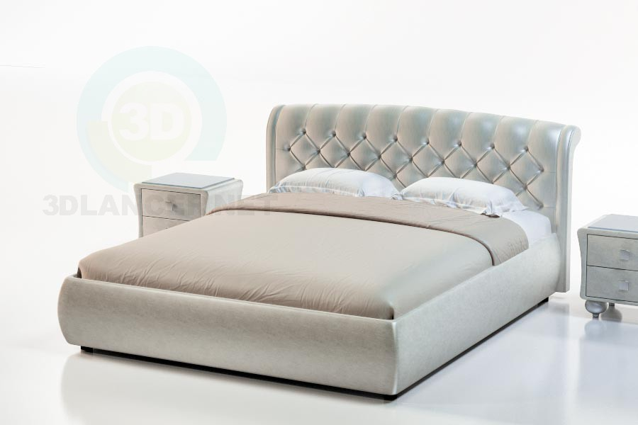 3d модель Ліжко Монтсеррат – превью