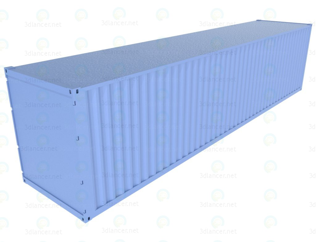3d model The container - preview