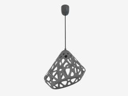 Lampe suspendue (fil noir gris foncé)