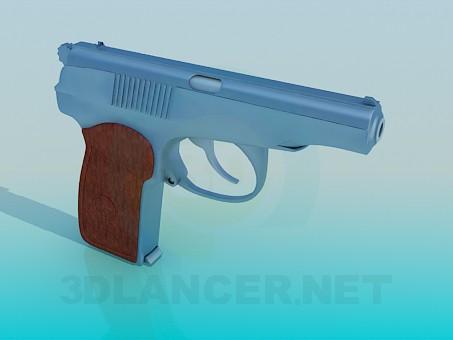 3d model Pistol - preview