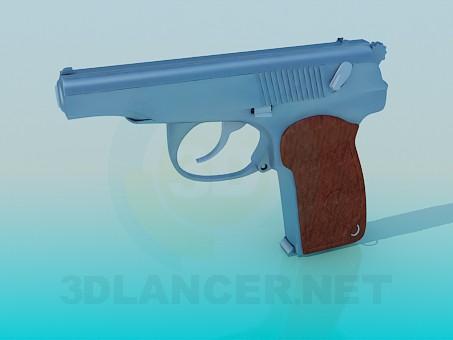 modelo 3D Pistola - escuchar