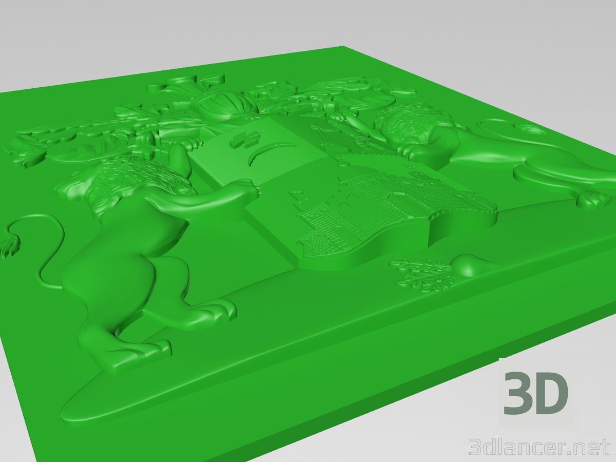 3d Knight's coat of arms model buy - render
