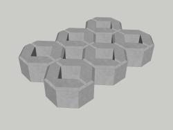 Estacionamento ecológico a partir de uma treliça de concreto