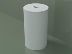 Laundry basket (90U08002, Glacier White C01, D 30, H 51 cm)