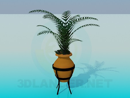 3d model A pot with a pot on legs - preview