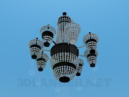 3d model Elegant crystal chandelier - preview