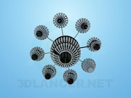3d model Elegant crystal chandelier - preview