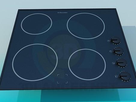 descarga gratuita de 3D modelado modelo Estufa Electrolux