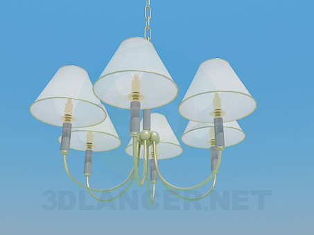 3d modeling Chandelier for five bulbs model free download