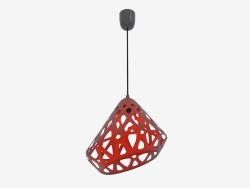 Lampe suspendue (fil noir orange foncé)