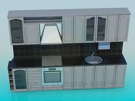 descarga gratuita de 3D modelado modelo Cocina