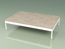 Coffee table 355 (Metal Milk, Farsena Stone)