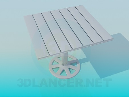 3d modeling Table of planks model free download