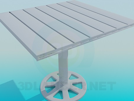 3d model Table of planks - preview