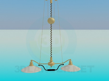 3d modeling Chandelier with shades model free download