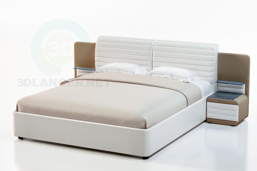 3d модель Кровать Невада-2 – превью