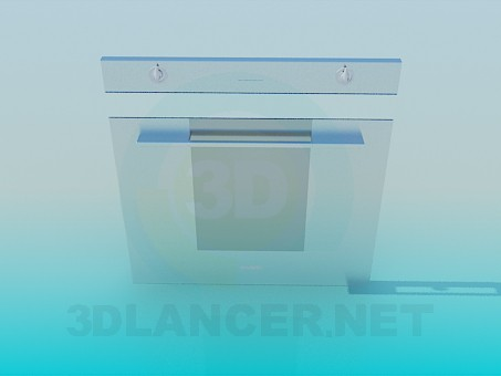 3d model Front panel of built-in cooker - preview