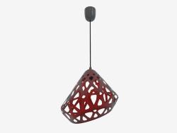 Lampe pendante (rouge drk fil noir foncé)