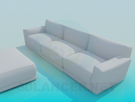 3d modeling Sofa and banquette model free download