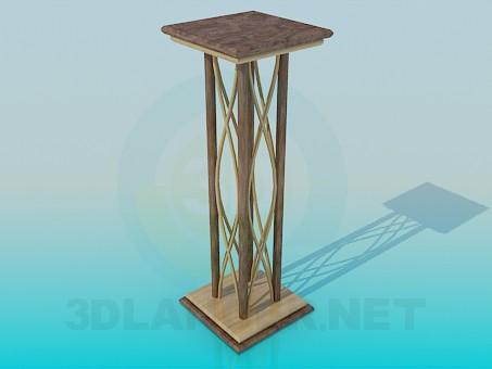 3d моделирование Подставка под вазон модель скачать бесплатно