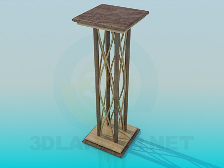 3d модель Подставка под вазон – превью