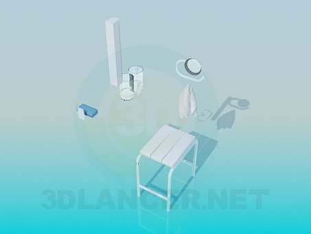 3d modeling Bath accessories model free download