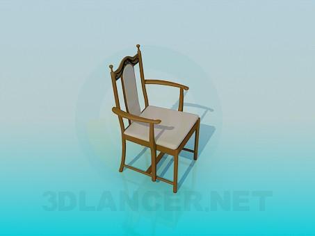 modelo 3D Silla clásica con brazos - escuchar
