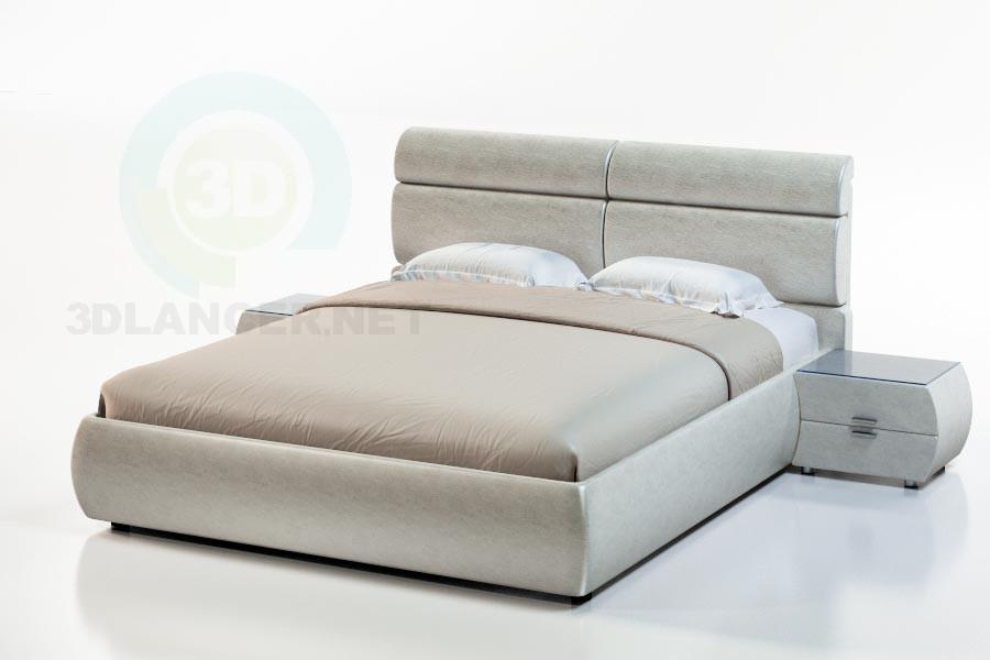 3d модель Кровать Ниагара-1 – превью