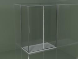 Box doccia scorrevole ZQ + ZF 150 per piatto doccia angolare rettangolare