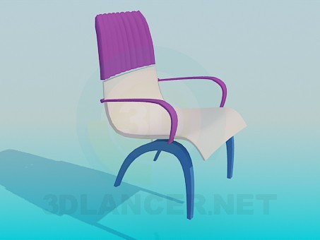 3d modeling Tri-color Chair model free download