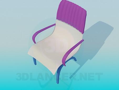 3d model Tri-color Chair - preview