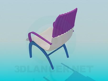 3d модель Стул трехцветный – превью