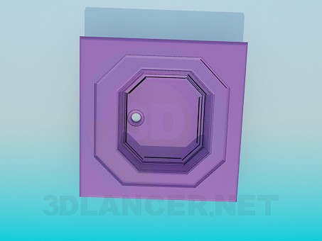 3d модель Восьмигранная раковина – превью