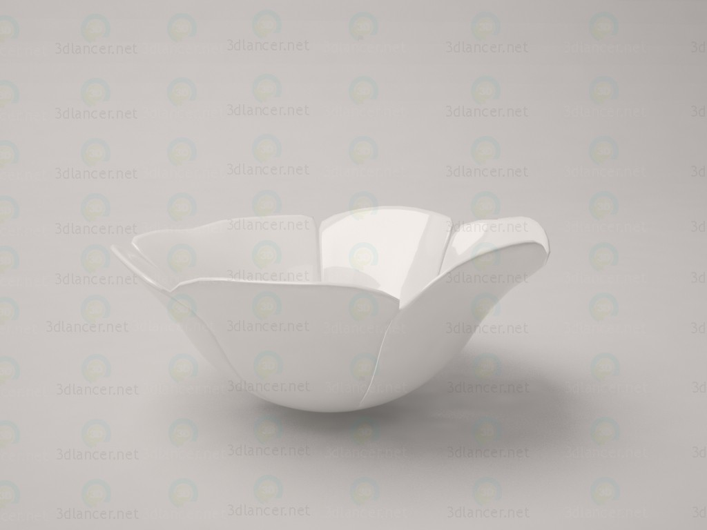3d model flower cabbage bowl - preview
