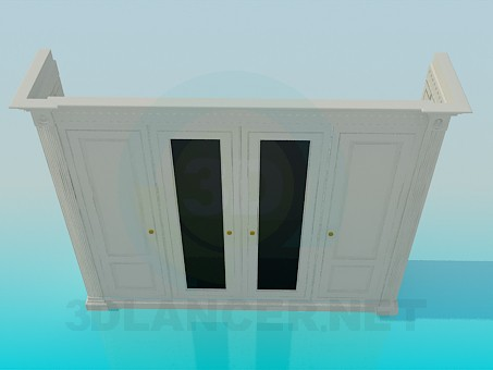 3d modeling The cabinet with four doors model free download