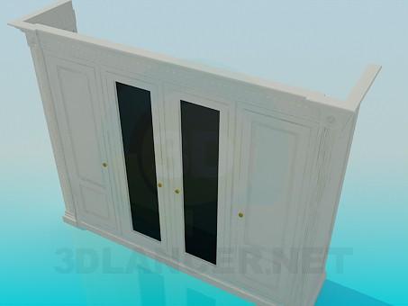 3d модель Шкаф на четыре двери – превью