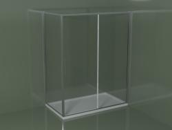 Cabina doccia scorrevole ZQ + ZF 160 per piatto doccia angolare rettangolare