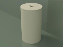 Panier à linge (90U08002, Bone C39, P 30, H 51 cm)