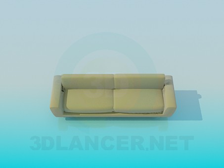 3d model Sofa on metal legs - preview