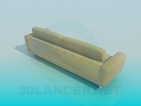 3d модель Диван на металевих ніжках – превью