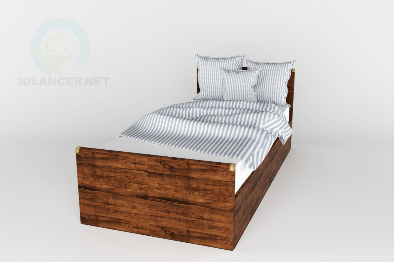 3d модель Ліжко Indiana BRW – превью