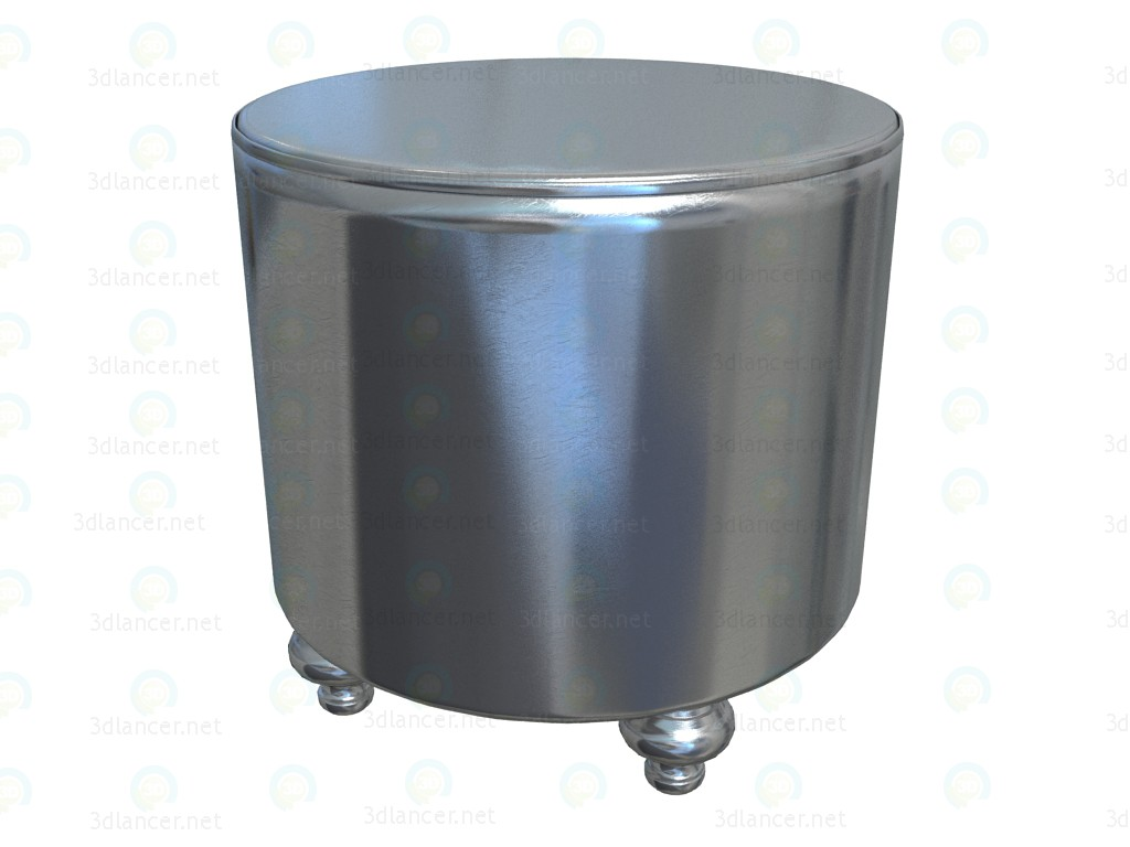 3d model Shining Silver Stool - preview